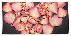 Rose Petals Heart Hand Towel by Eva Csilla Horvath