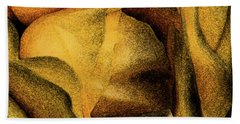 Hand Towel featuring the photograph Rose Yellow Fresco by Jean OKeeffe Macro Abundance Art