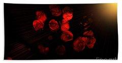 Roses And Black Bath Towel