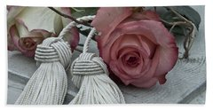Hand Towel featuring the photograph Roses And Tassels by Sandra Foster