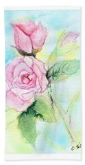 Bath Towel featuring the painting Roses by C Sitton