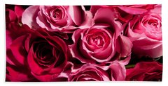 Bath Towel featuring the photograph Roses by Matt Malloy