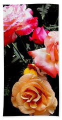 Roses Roses Roses Hand Towel by James C Thomas