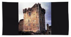 Hand Towel featuring the photograph Ross Castle Kilarney Ireland by Angela Davies