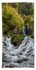 Bath Towel featuring the photograph Roughlock Falls South Dakota by Patti Deters
