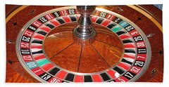Roulette Wheel And Chips Bath Towel