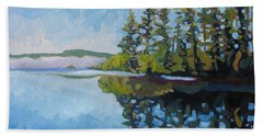 Round Lake Mirror Hand Towel
