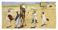 Round The Pyramids, From The Light Side Hand Towel by Lance Thackeray