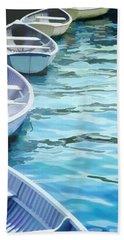 Rounded Row Of Rowboats Bath Towel