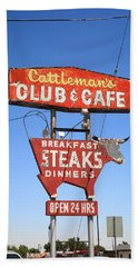 Route 66 - Cattleman's Club And Cafe Bath Towel