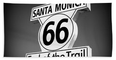 Route 66 Hand Towel by David Nicholls
