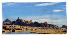 Hand Towel featuring the photograph Route 66 Needles Mtn Range Two  Sold by Antonia Citrino