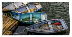 Row Boats At Dock Bath Towel