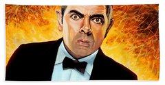 Rowan Atkinson Alias Johnny English Bath Towel