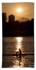 Rower Sunrise Bath Towel by Kenny Glotfelty