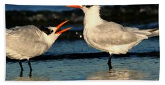 Royal Tern Courtship Dance Bath Towel