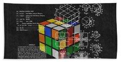 Rubik's Cube Patent 3 Bath Towel