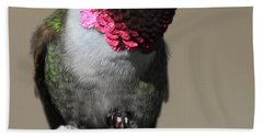 Ruby-throated Hummer Bath Towel