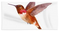 Rufous Hummingbird Bath Towel