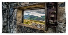 Ruin With A View  Hand Towel by Adrian Evans