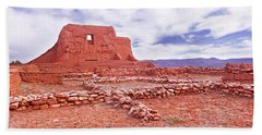 Ruins Of The Mission, Pecos National Bath Towel