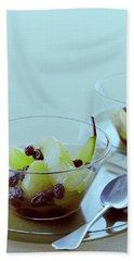 Rum Raisin Poached Pears Bath Towel