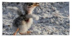 Running Free - Least Tern Hand Towel by Meg Rousher