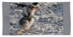 Running Free - Least Tern Hand Towel