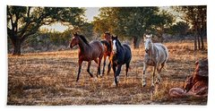 Running Horses Hand Towel