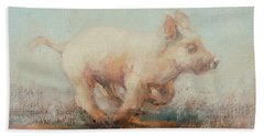 Running Piglet Hand Towel by Ellie O Shea