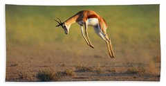 Running Springbok Jumping High Hand Towel