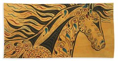 Bath Towel featuring the painting Runs With The Wind by Susie WEBER