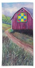 Bath Towel featuring the painting Rural America's Gift by Susan DeLain