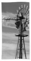 Rural Nebraska Windmill Hand Towel