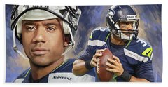 Russell Wilson Artwork Bath Towel