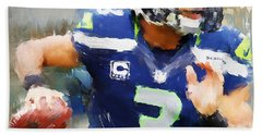 Russell Wilson Hand Towel by Lourry Legarde