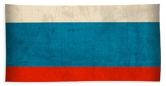 Russia Flag Distressed Vintage Finish Hand Towel