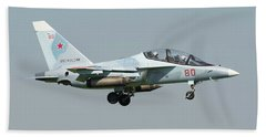 Russian Air Force Yak-130 Landing Hand Towel by Daniele Faccioli