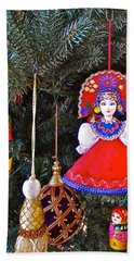 Russian Christmas Tree Decoration In Fredrick Meijer Gardens And Sculpture Park In Grand Rapids-mi Hand Towel