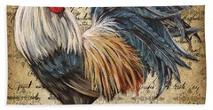 Rustic Rooster-jp2119 Bath Towel by Jean Plout