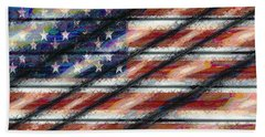 Rustic Usa Hand Towel