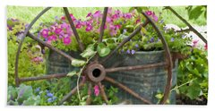 Hand Towel featuring the photograph Rustic Wheel Digital Artwork by Sandra Foster