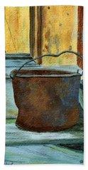 Rusty Bucket Hand Towel
