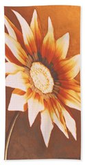 Rusty Gazania Bath Towel