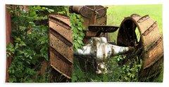 Rusty Tractor 1  Bath Towel by Joyce  Wasser