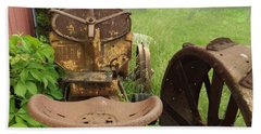 Rusty Tractor Bath Towel