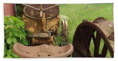 Rusty Tractor Bath Towel by Joyce  Wasser