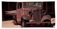 Rusty Truck 04 Hand Towel by Wally Hampton