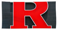Rutgers Block R Hand Towel by Allen Beatty