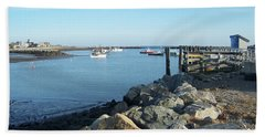 Bath Towel featuring the photograph Rye Harbor  by Eunice Miller